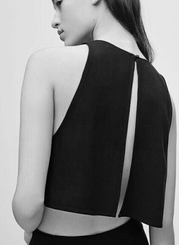 Bold Simplicity - black top with split back detail; minimalist fashion; minimal style // Talula