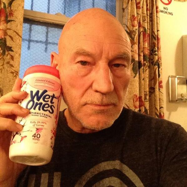 Patrick Stewart's 'patched in' mockery of David Cameron's super serious Obama call goes viral [pics] (Scroll down for the GOAT!)