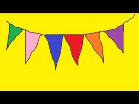 Al zingend leer je kleuren. Benoem wat je ziet (dat zijn hier de vlaggetjes) en zing het liedje: zoek de juiste kleur! Daarna zing je het liedje met een ande...