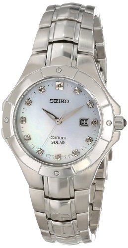 Seiko Coutura Mother-of-Pearl Dial Women's Watch #SUT125