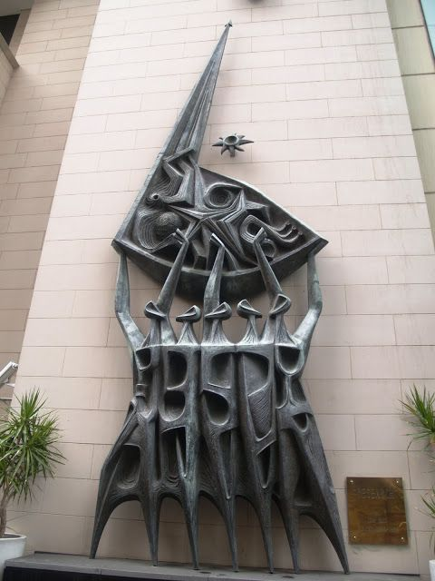 'Research' by Australian sculptor Tom Bass, copper. ICI Building, Sydney, 1956–59