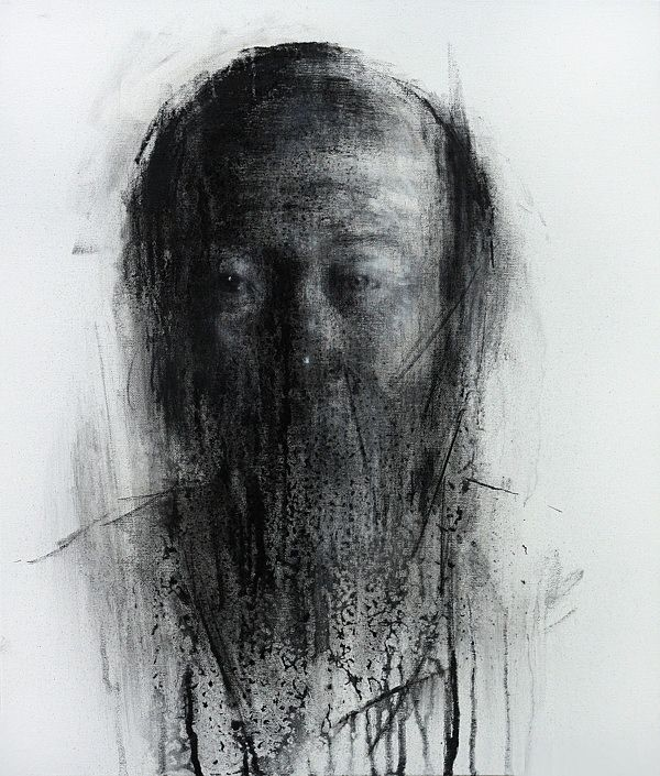 Charcoal on Canvas 2013 by KwangHo Shin http://www.inspirefirst.com/2013/06/28/charcoal-canvas-2013-kwangho-shin/