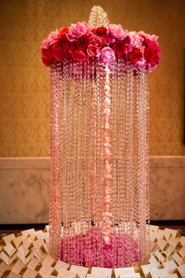 Beautiful Blooms - Ritz Carlton Philadelphia Pink and Gold Wedding Escort Place Card Table