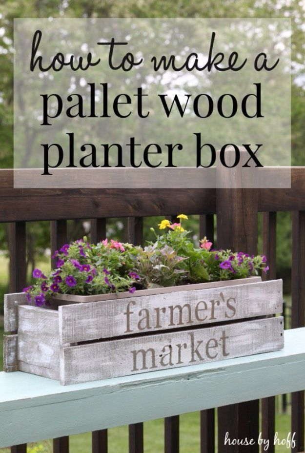 Easy Crafts To Make and Sell - DIY Pallet Wood Planter Box - Cool Homemade Craft Projects You Can Sell On Etsy, at Craft Fairs, Online and in Stores. Quick and Cheap DIY Ideas that Adults and Even Teens Can Make http://diyjoy.com/easy-crafts-to-make-and-sell #woodcraftprojects