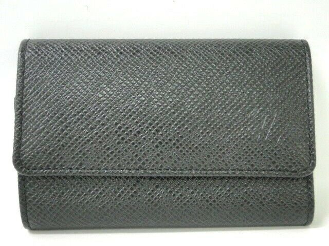 e04fdcdbf376 eBay  Sponsored LOUIS VUITTON Key Case Holders Multicles 6 Taiga Leather  Black 32160018900 J