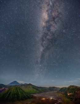 The milky way above Mount Bromo - Indonesia.