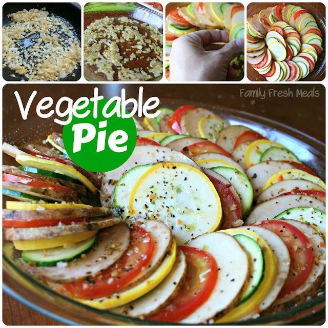 Vegetable Pie (aka Vegetable Tian)  Veggies topped with melted cheese.... YUM!Vegetables Tian, Side Dishes, Recipe, Aka Vegetables, Food, Fresh Meals, Pies Aka, Vegetables Pies, Families Fresh