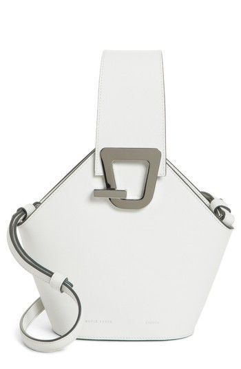 ab0a2e179b320 DANSE LENTE MINI JOHNNY LEATHER BUCKET BAG - WHITE.  danselente  bags   leather  bucket
