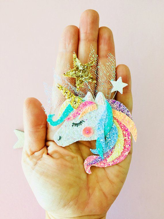 6b7682c9b1fd Magical Unicorn hair clip Unicorn hair clip unicorn