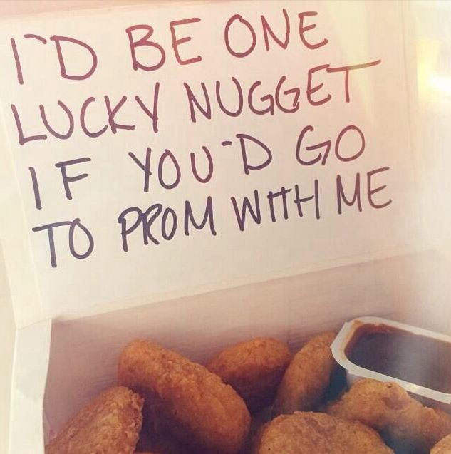 I'd say yes and then eat the chicken nuggets!  #promposal