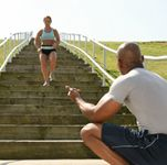 7 -Day Stair Climbing Workout Plan      -  Warm up and cool down for five minutes    -  When stair climbing in a building, always take elevator down to avoid knee injuries  -  Incorporate three day of H.I.I.T (High Intensity Interval Training)  -  Stretch after every workout  -  Rest for one day