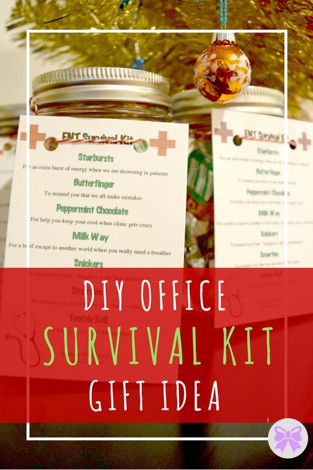 DIT Office Survival Kit Gift Idea -- Preppy & Periwinkle