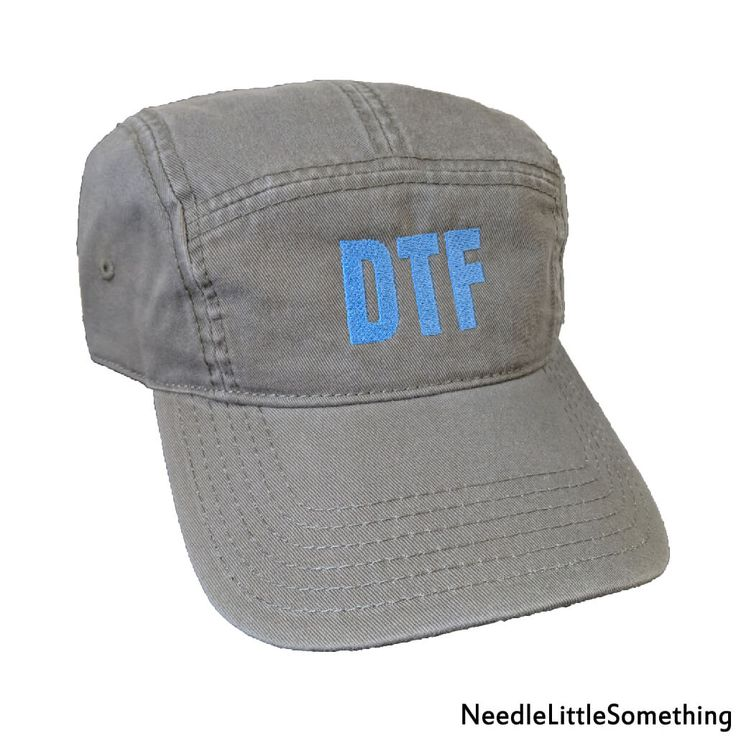 Go get 'em tiger!  No beating around the bush with this one, you will undoubtedly make your intentions known with this satirical custom embroidered hat.  What could go wrong? Most people say honesty is the best policy, now is the time to try and put it to the test!   #DTF #Satire #Humor #TrendyTuesday #Clever #Embroidered #Gifts #Funny #Hats #Custom #Handmade