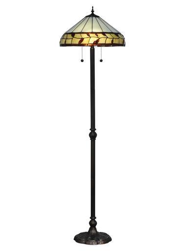 Floor Torchiere Lamp DALE TIFFANY PORT JACKSON 2-Light Antique Bronze Me DY-1786