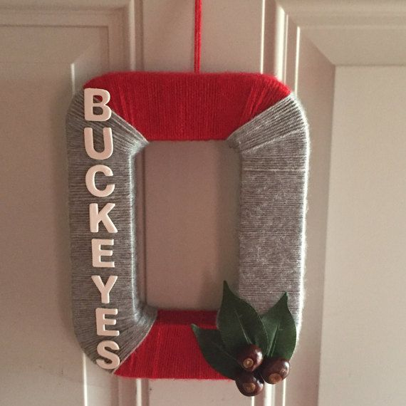 Cheer on THE OHIO STATE BUCKEYES with this customized wreath! Go Bucks!