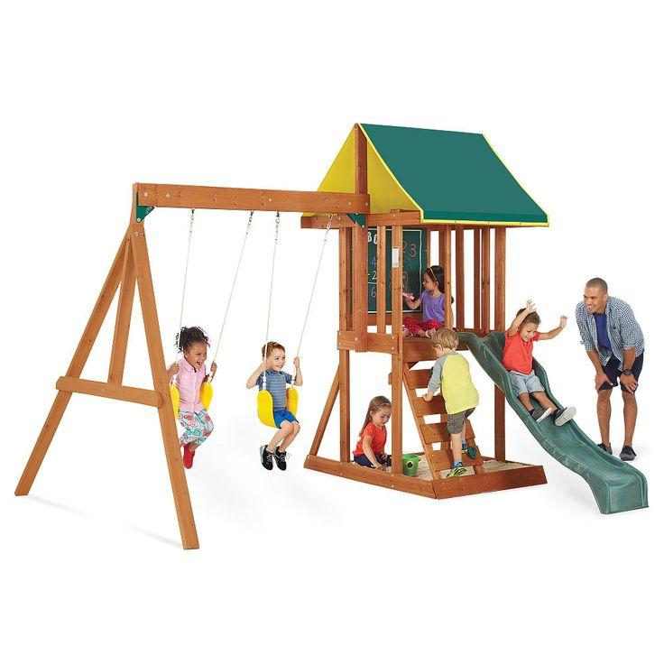 25 unique wood swing sets ideas on pinterest wood swing for Creative swing set ideas