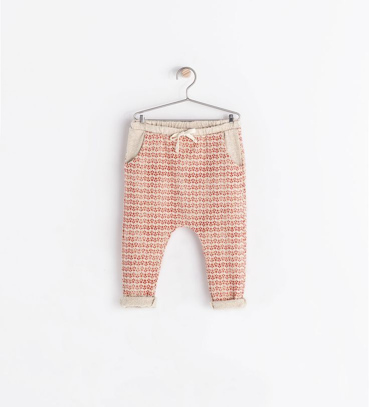 Image 1 of FLORAL-PRINT TROUSERS from Zara. these are baby pants but i would totally wear them