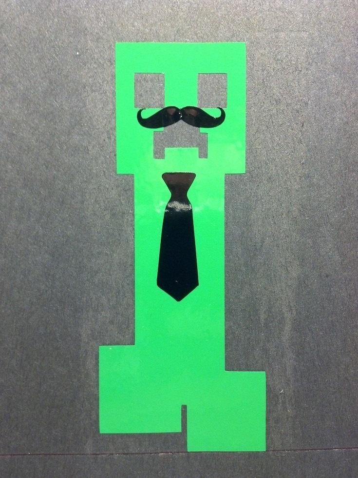 Minecraft Creeper Dad Car Vinyl Decal Inspiration