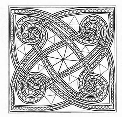 Celtic mosaic coloring pages ~ everything is connected. by design. just as in nature. we ...