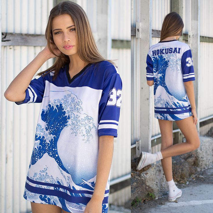 The Great Wave Touchdown – LIMITED (WW $110AUD / US $88USD) by Black Milk Clothing *Note: Final product will be on Checker fabric.