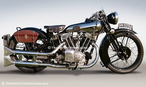 1931 SS100 Brough Superior    The motorcycle on which T.E. Lawrence (a.k.a. - Lawrence of Arabia) met his demise in May 1935.    Beautiful piece of machinery!