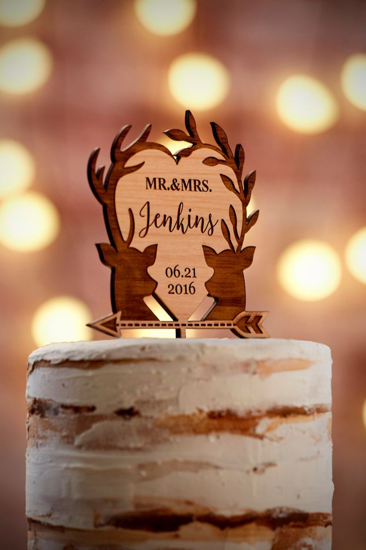 7 best cake topper images on pinterest wedding cake toppers personalized wedding cake topper custom cake topper rustic wedding cake topper with deers biocorpaavc Images