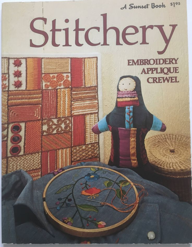 Stitchery Sunset Book, Embroidery, Applique, Crewel, Vintage, Sewing by ChezShirlianne on Etsy