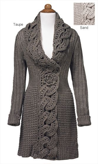Knitwear - Crochet Flower Coat- inspiration