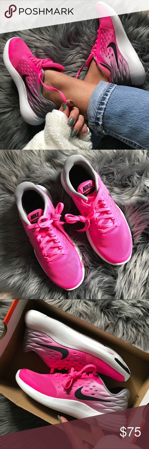 NWB 💕 NIKE LUNARSTELOS • PINK BLAST BRAND NEW, NIKE FREE! Cute, cozy & comfy NIKE LAUNARSTELOS | GET READY TO GET STELLAR! 🌷 Original FULL BOX.   ORDER YOUR WOMANS SHOE SIZE 🌷 5 youth = 6.5 women 6 youth = 7.5 women  ALL SIZES LISTED ACCORDING TO NIKE SIZE CHART.   Ships same or next day. Smoke free home.   PRICED FIRM, offers will be considered through the offer button only. Bundle to save. 🌷  100% authentic & direct from NIKE Nike Shoes Athletic Shoes