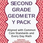This pack is a second grade geometry pack aligned to the common core and Everyday Mathematics. It covers 2 and 3-D shapes, parallel lines and symme...