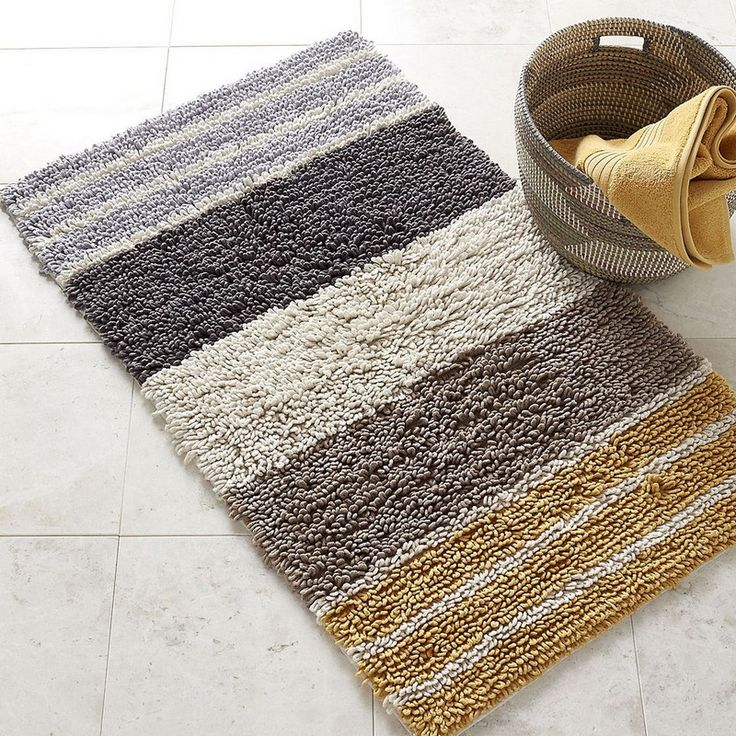 Chunky Loop Stripe Bath Rug   The variegated stripes on this h bath rug  bring bold. 17 Best images about Bathroom Refresh on Pinterest   Towels