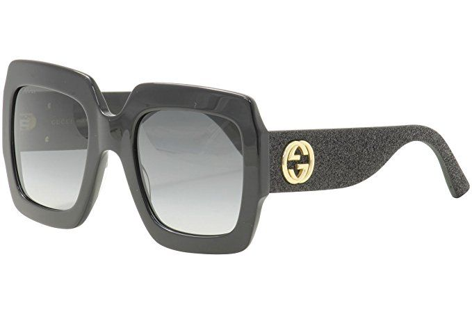 17491c8290 Gucci GG0102S 001 BlackGrey GG0102S Square Sunglasses Lens Category 3 Size 5