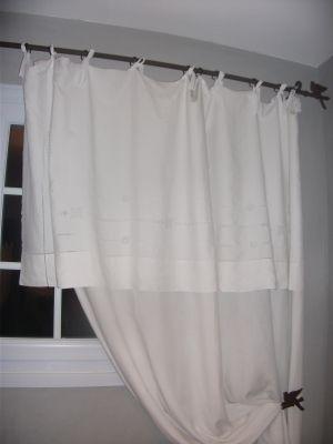 1000 id es sur le th me draps anciens sur pinterest for Rideau pour fenetre salle de bain