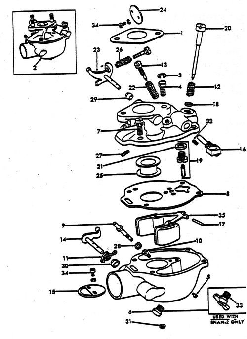 carburetor parts for ford 8n tractors  1947