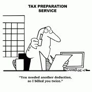 You needed another deduction, so I billed you twice. #accounting #cpa #humor