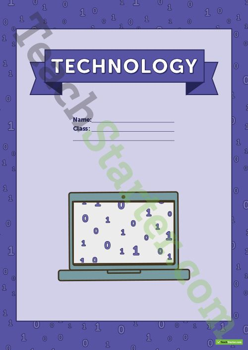 Teaching Resource: Coding themed title page and vocabulary template to use when learning about technology content vocabulary.