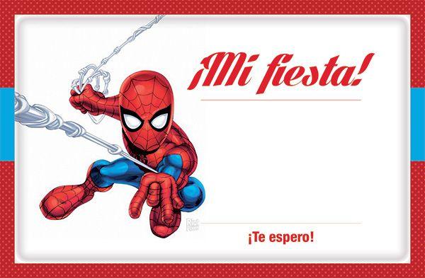 Invitacion Spiderman Squad Para Imprimir Gratis Fiesta