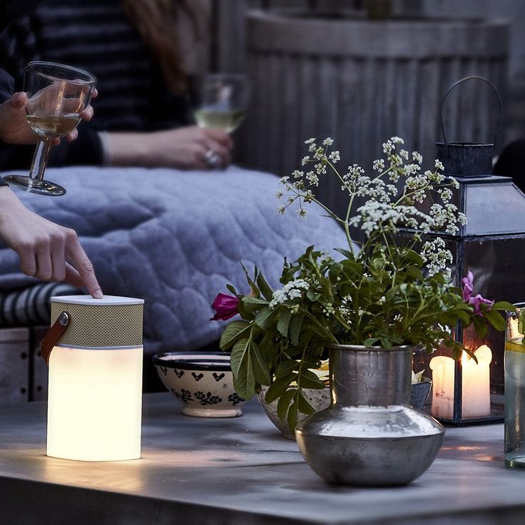 KREAFUNK | aGlow Wireless Speaker & Lamp - A cool lamp with the awesome feature of it actually being a funky Bluetooth Speaker! - Click for more!... #kreafunk #kreafunkspeaker #picnics #botanex #botanexstore #qualityproducts #outdoors #camping #glamping #wantone