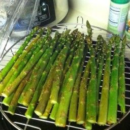 Roasted Asparagus in Nuwave Oven
