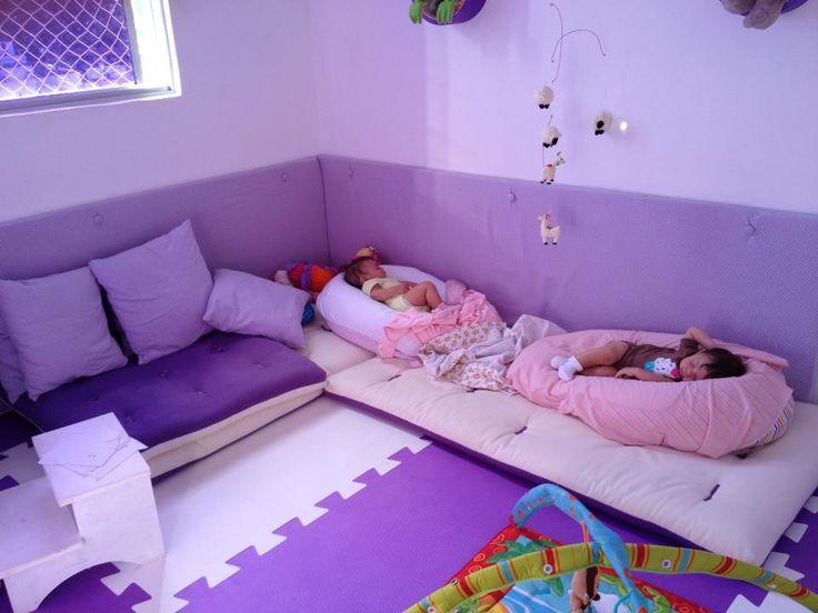 montessori dog beds for naptime... SOO smart!