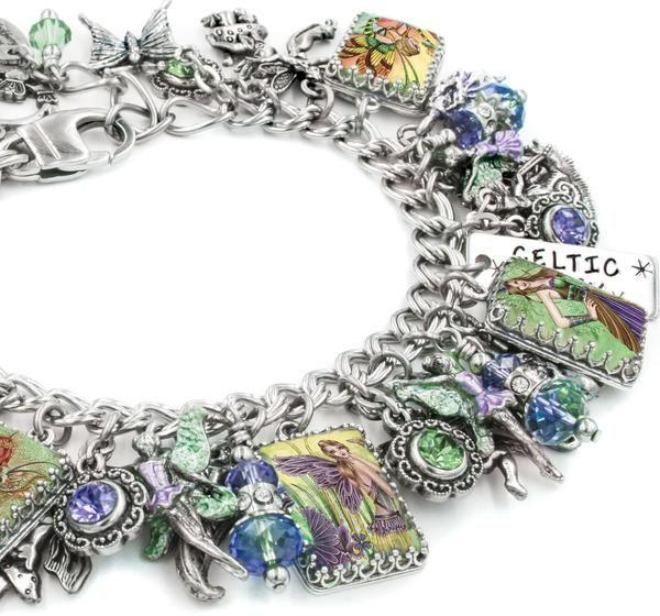 irish jewelry, fairy bracelet, charm bracelet