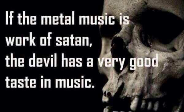metal music quote