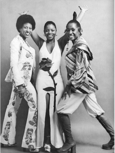 Labelle: Nona Hendryx, Sarah Dash, and Patti Labelle, after Cindy Birdsong left the group to join forces with Diana Ross and the Supremes.