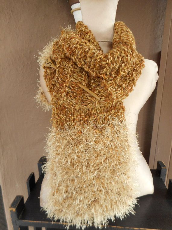 Hand Knit Scarf Knit Scarf Hand Knit Scarf with by bonitastewart