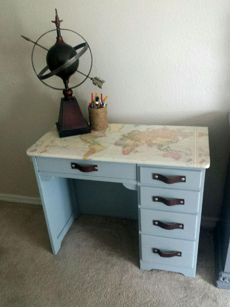 1050 best maps and globes crafts and ideas images on pinterest diy decoupage world map desk gumiabroncs Choice Image