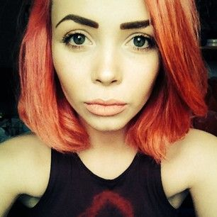 Burnt orange. | 29 Adventurous Hair Colors To Try This Summer