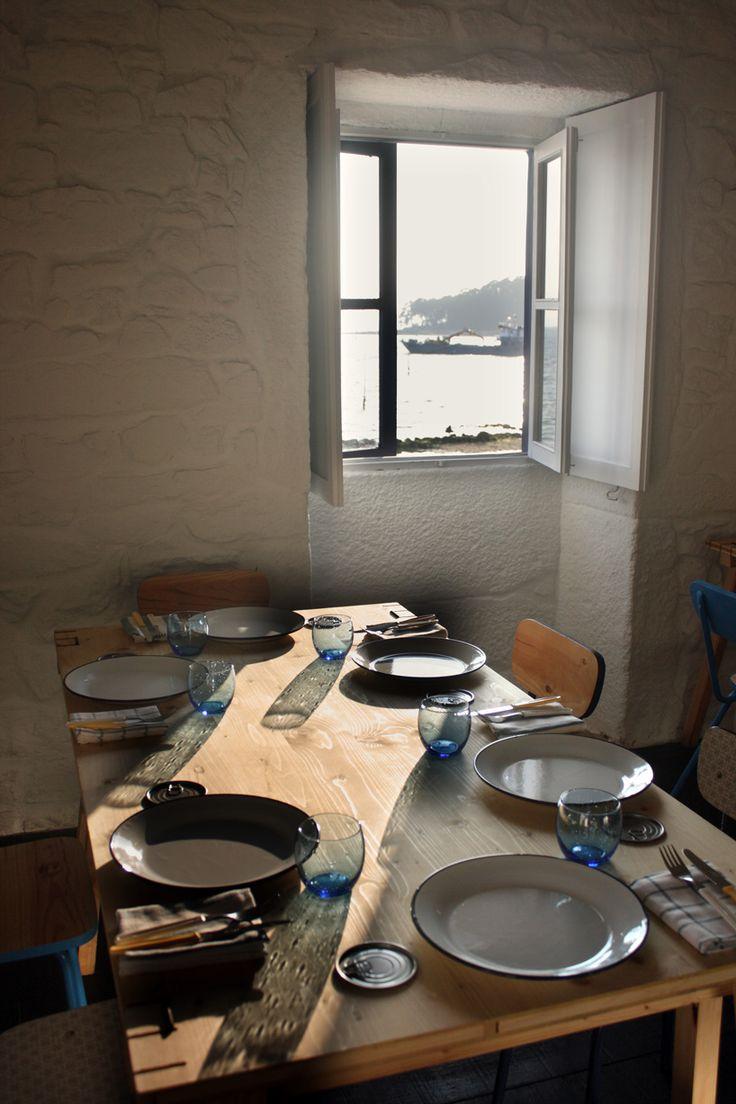 loxe mareiro restaurant by cenlitrosmetrocadrado in galicia, spain - designboom | architecture & design magazine