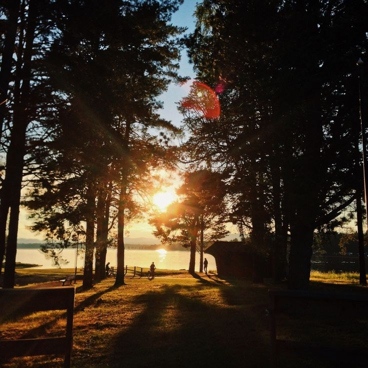 Wonderful sunset in Orsa, Sweden
