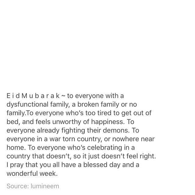 Eid Mubarak to all the Muslims ❤️