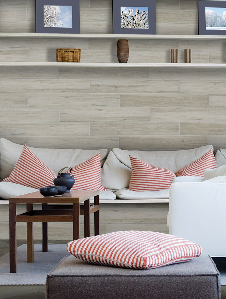 Even when you're inland, you can have that summer beach look with Marazzi Montagna Beachwood. Available in 6 x 36.